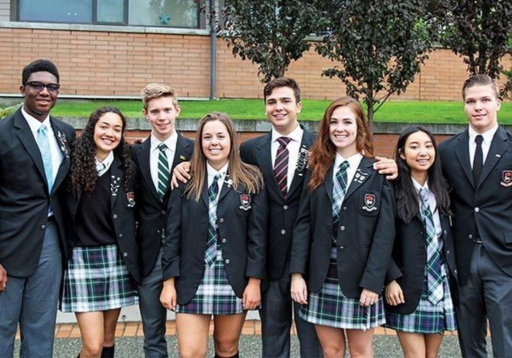 Учащиеся частной канадской школы