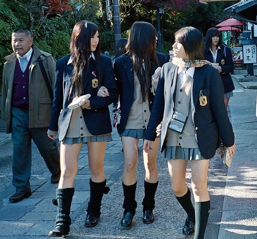 Школьницы (Киото, Япония)