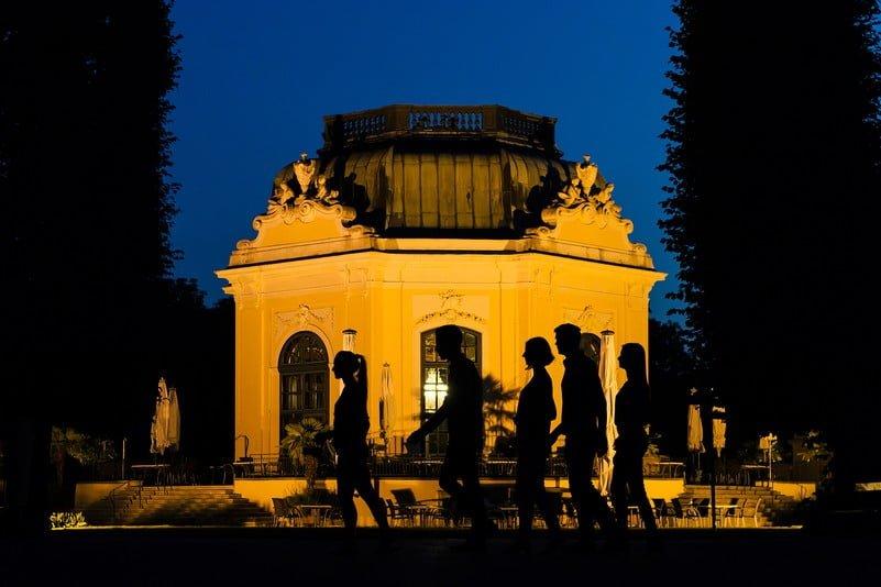 Ночной тур в зоопарке, Дворец Шёнбрунн