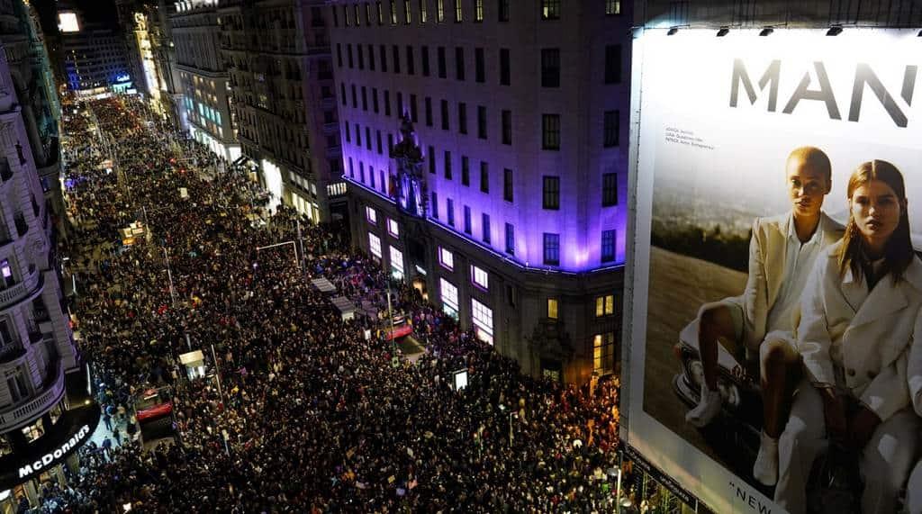 Демонстрация в Мадриде 2019 год