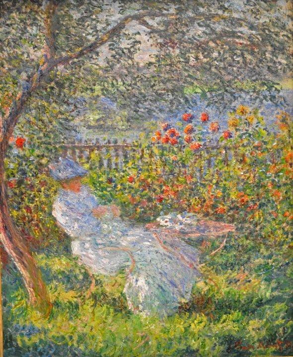 Алиса Ошеде в саду, Клод Моне, 1881 г.