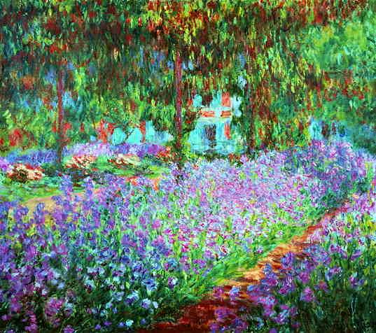 Сад художника в Живерни, Клод Моне, 1920 г