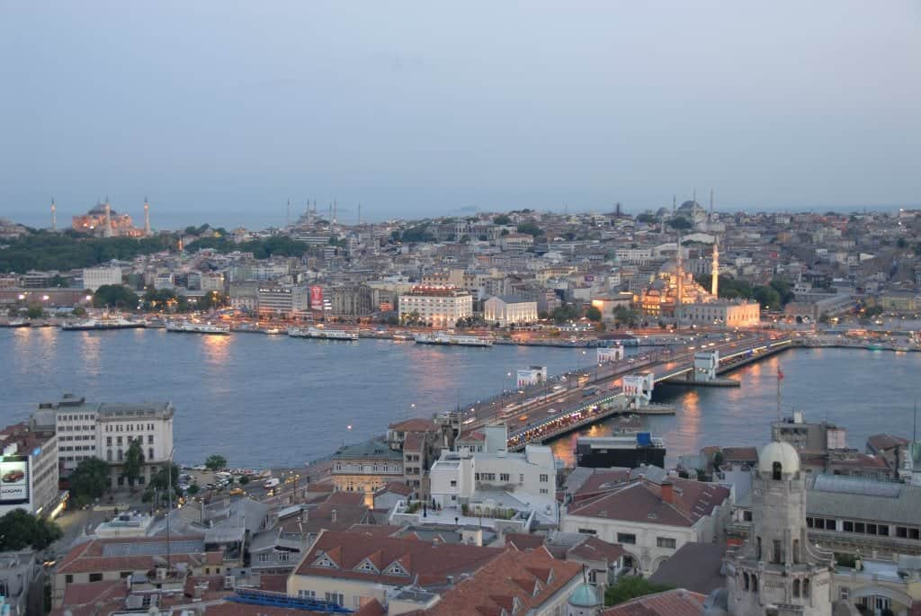 Галатский мост (Galata Köprüsü) Стамбул (Istanbul) - Турция
