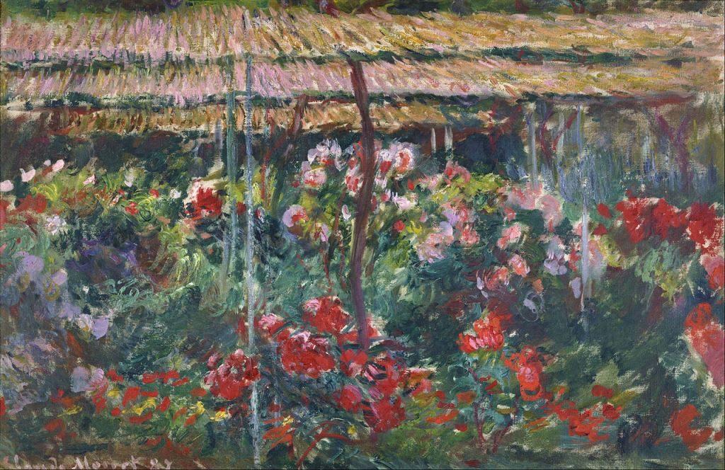 Сад пионов, 1887 г, Клод Моне