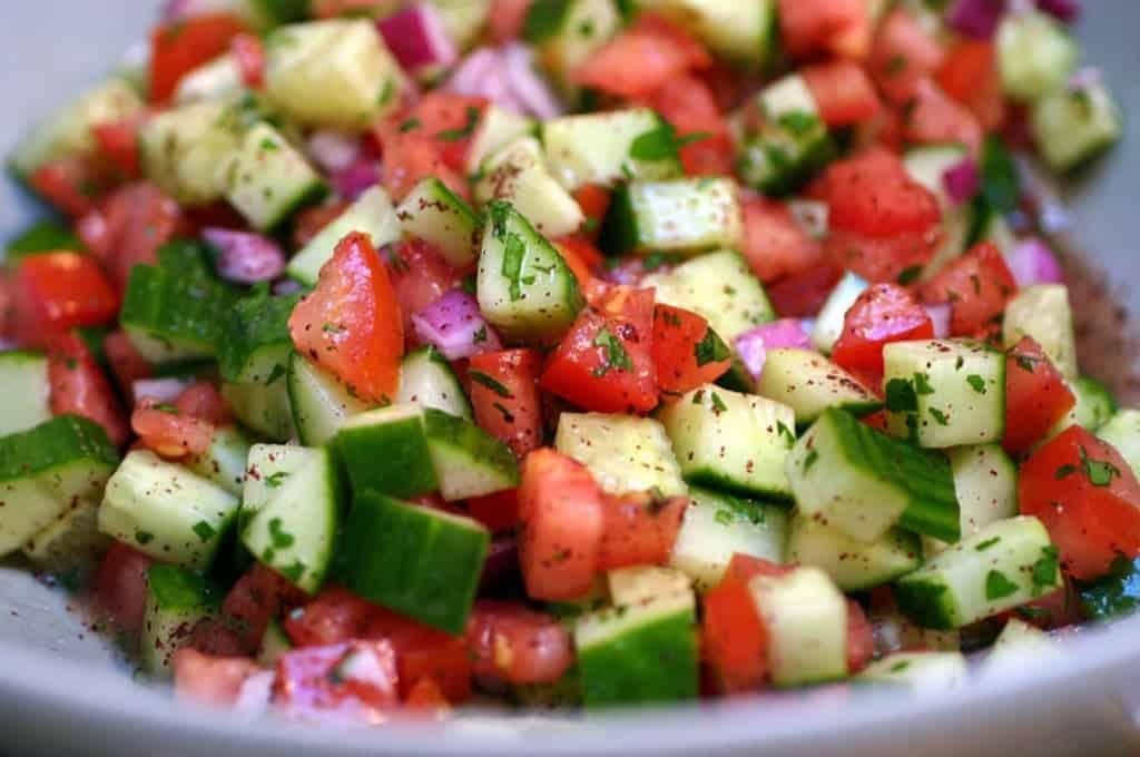 Пастуший салат - чобан салатаси (турецкий) (Çoban salatası)