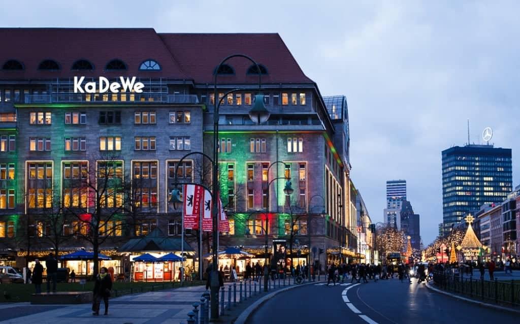 Берлинский универмаг KaDeWe на знаменитом бульваре Kurfürstendamm