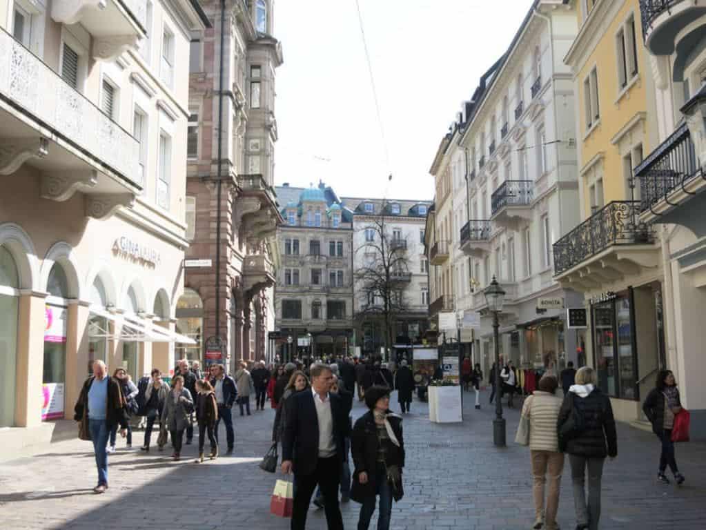 Ланге штрассе — исторический старый город, Баден-Баден