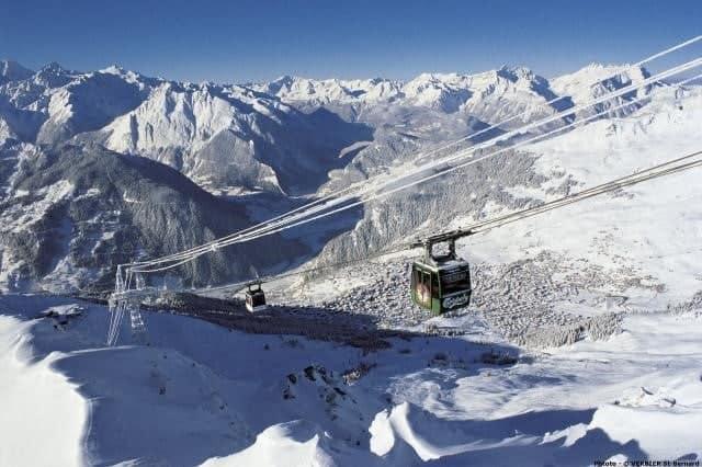 Подьёмник в Вербье, Швейцария