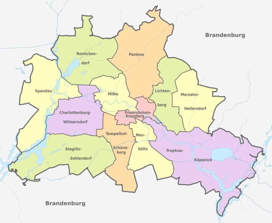 Карта районов Берлин
