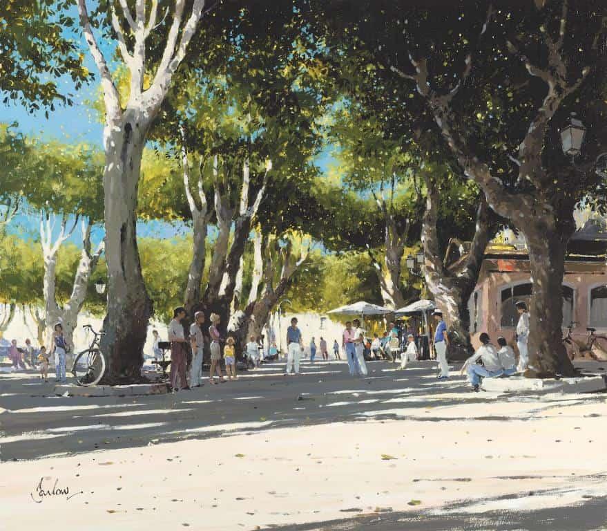 Картина - Place Des Lices (Сен-Тропе)