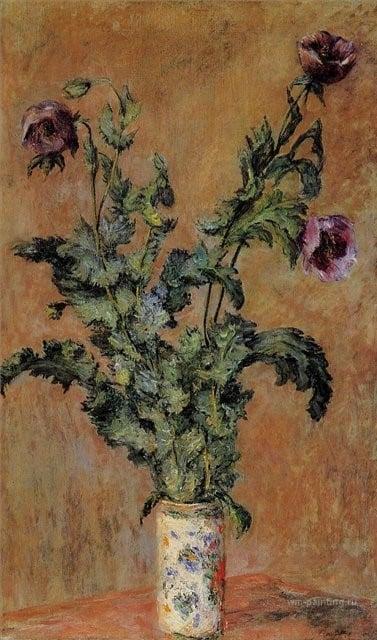 Маки в вазе, Клод Моне, 1893