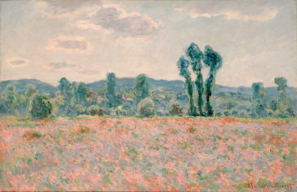 поле маков в Живерни, Моне