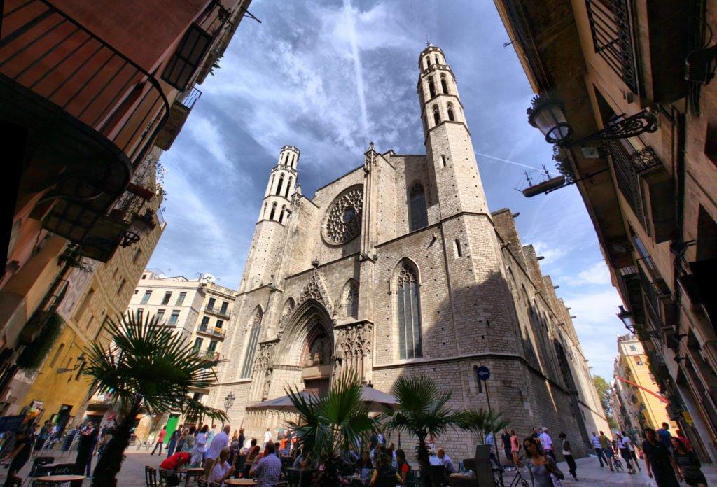 Храм Санта-Мария-дель-Мар, Барселона самостоятельно