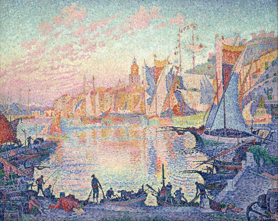 Синьяк, Поль: The Port of Saint-Tropez, 1902