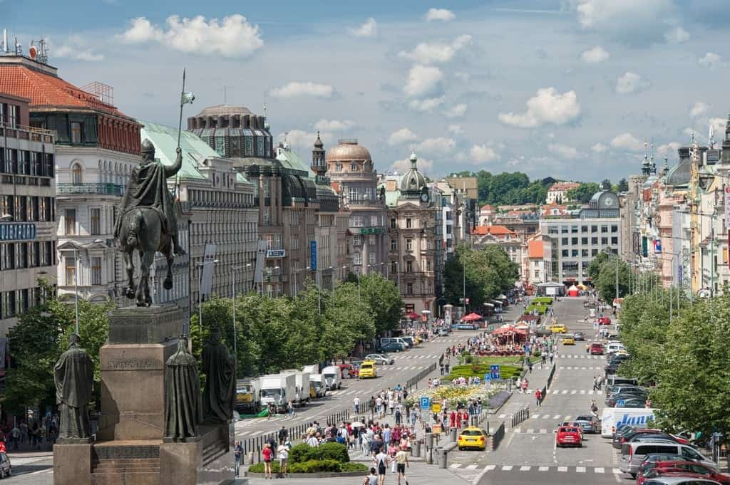 Конная статуя чешского князя Вацлава Святого перед Национальным музеем в Праге, Прага (Praha) – Чехия