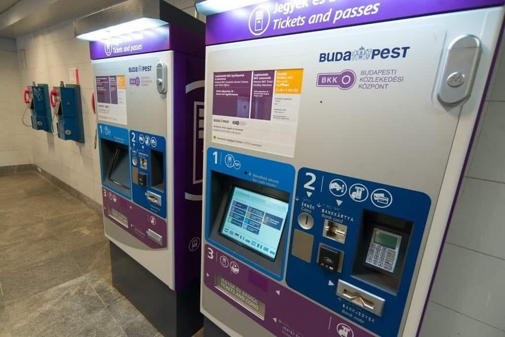Автоматы для покупки билетов, Будапешт