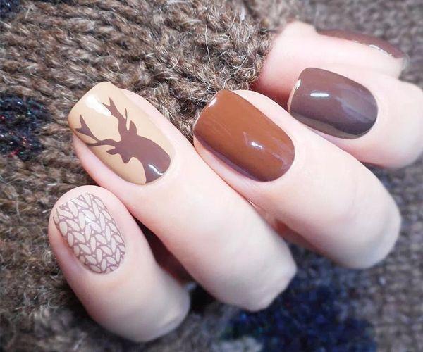 Осенний дизайн в коричневых тонах