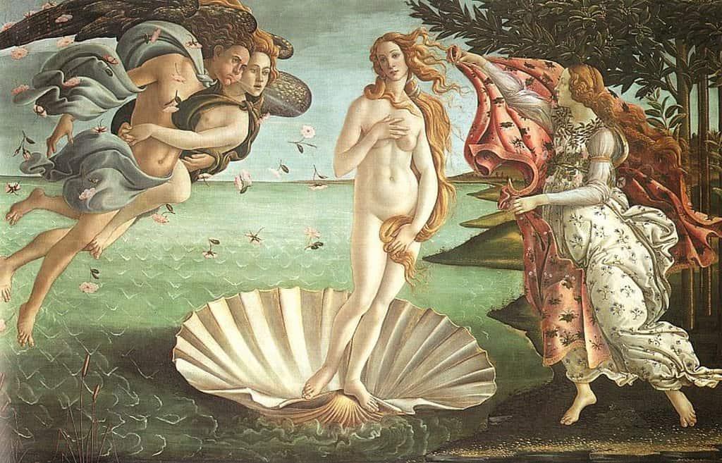 Рождение Венеры, Боттичелли Галерея Уффици Флоренция