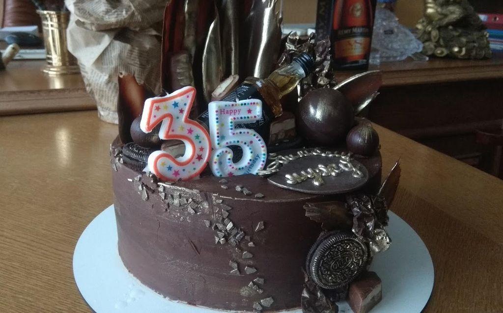 Торт на 35 лет - мужу