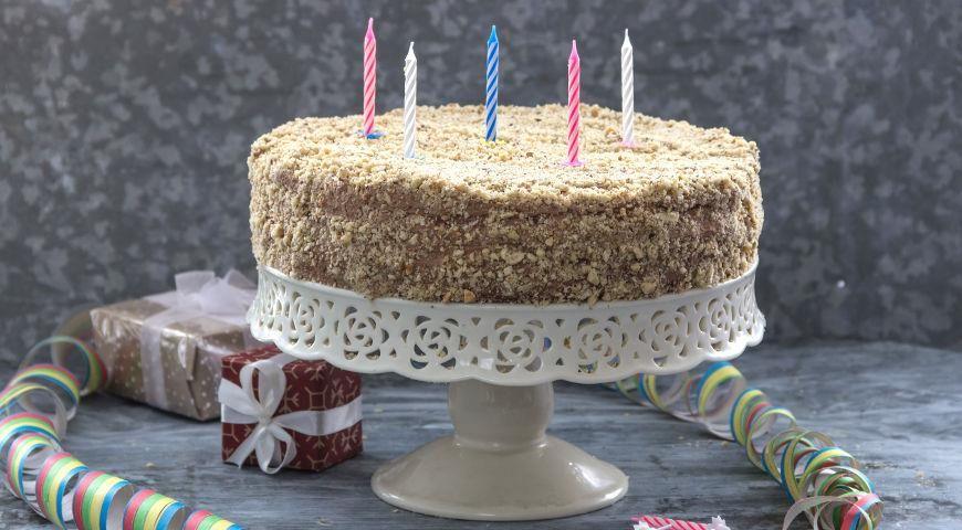 Домашний торт на 5 лет со свечками