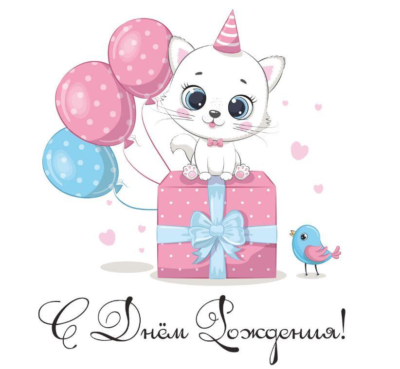 Любимый котенок – поздравление мужу С днем Рождения