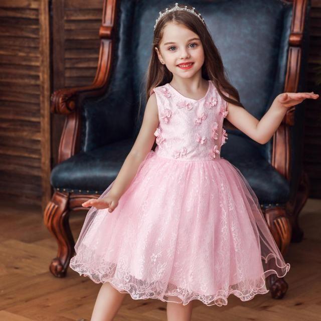 Розовое платье для маленькой принцессы