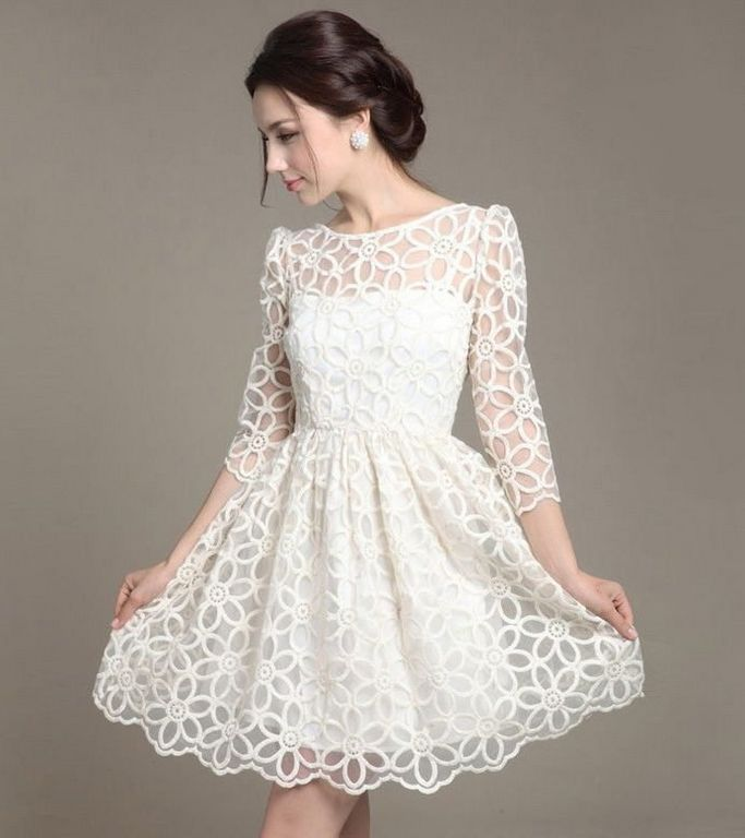 Белое платье на торжество