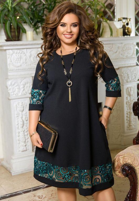 Наряд на юбилей - Эффектное платье трапеция