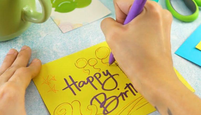 Как подписать открытку с днём рождения