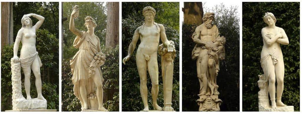 Статуи в саду Боболи, Флоренция - Италия