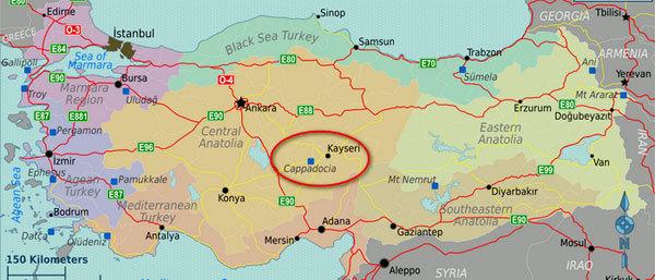 Каппадокия на карте