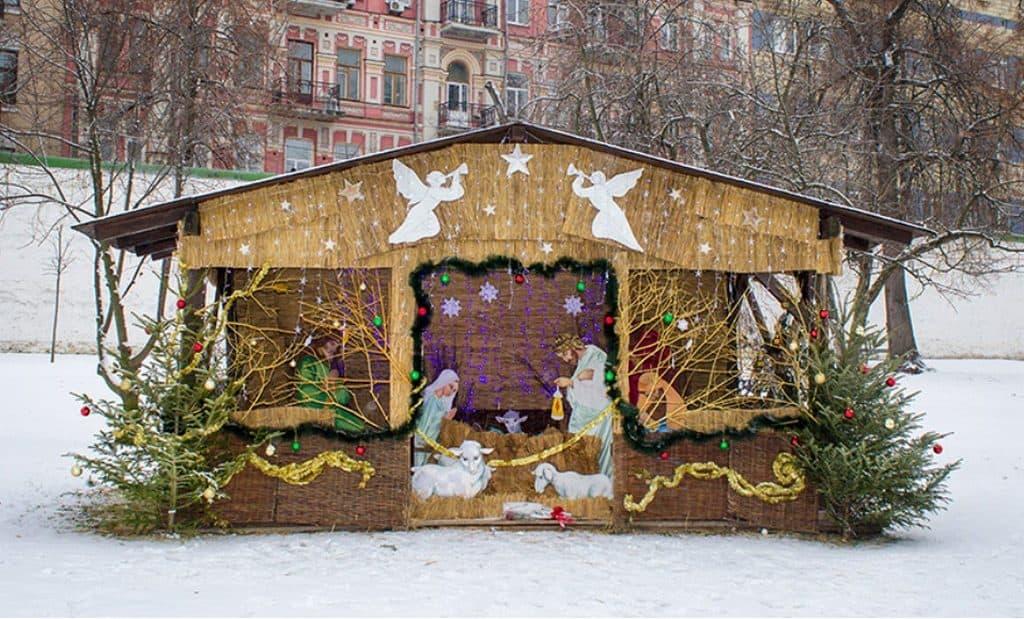 Рождественский вертеп С Рождеством Христовым
