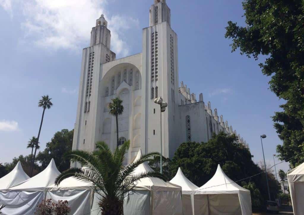 Церковь Святого Сердца в Касабланке Марокко