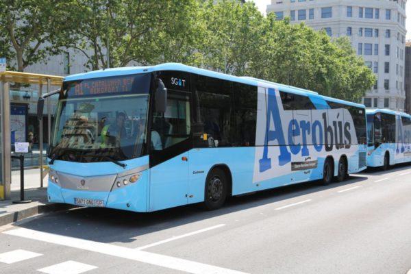 Барселона на общественном транспорте - Aerobus до аэропорта Барселоны -
