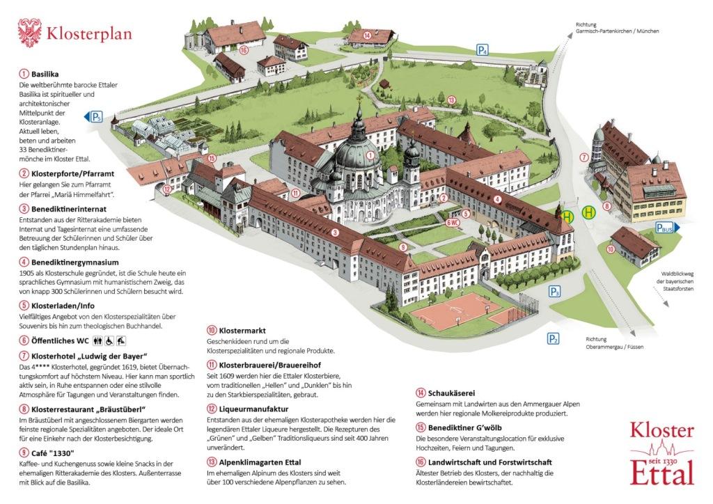 Католический Монастырь Этталь – план