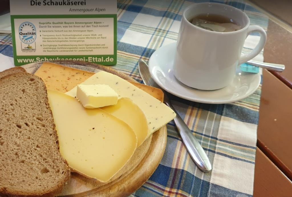 Дегустация сыра, монастырская сыроварня Этталь