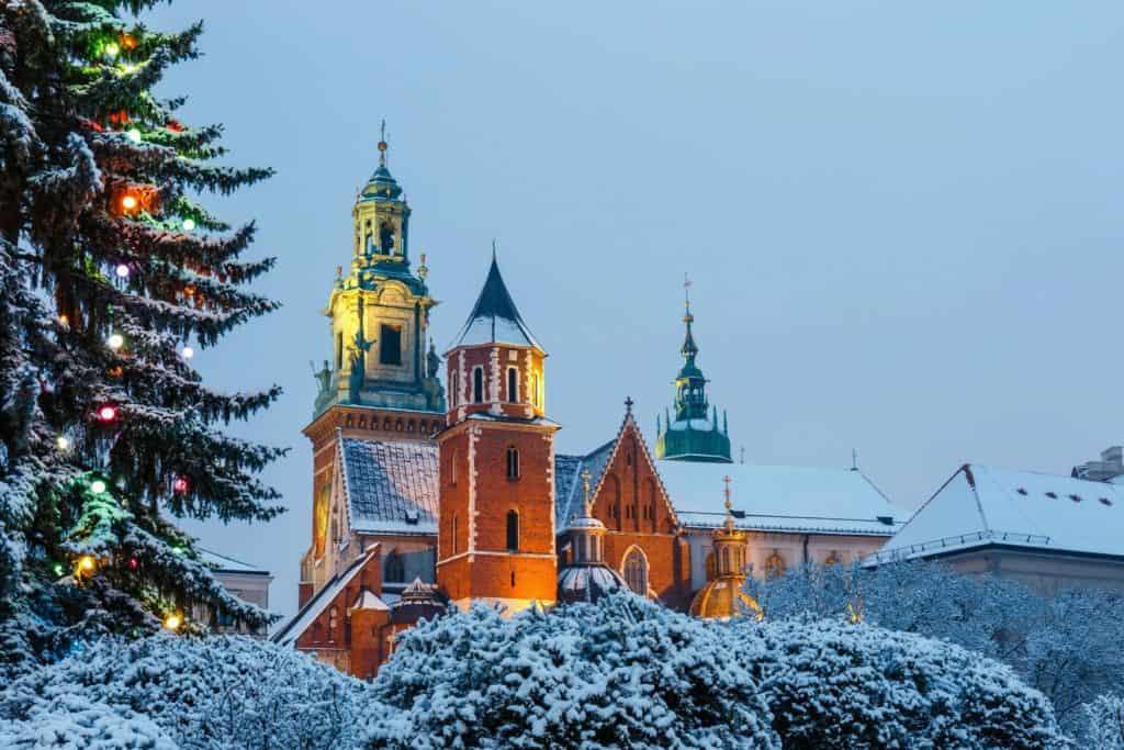Краков зимой Туры по Европе