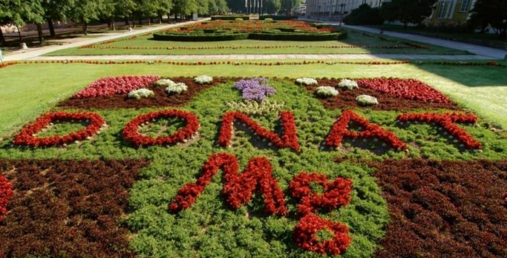 Цветочная композиция в парке «Donat Mg»