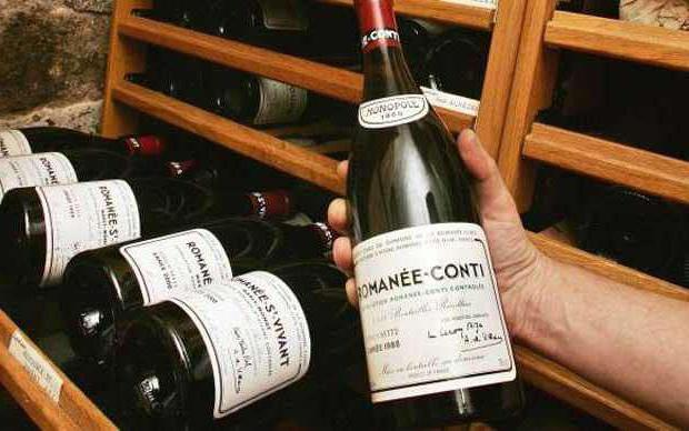 Одно из самых дорогих вин «Романэ Конти» (Romanee Conti)