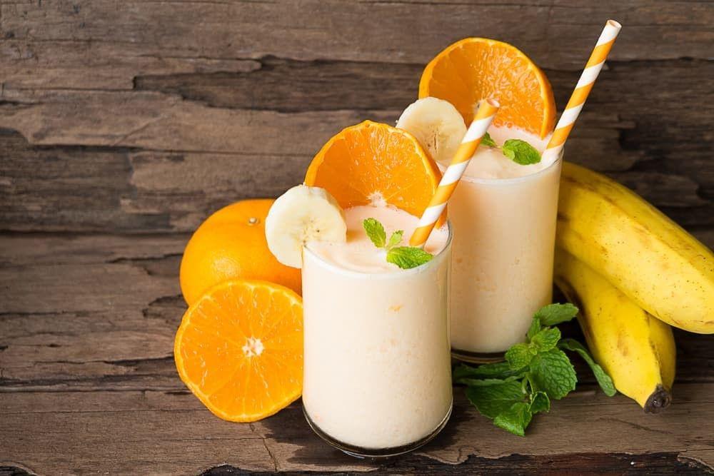 Цитрусовый смузи с бананом