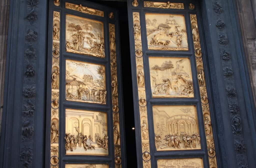 Врата рая, итальянского скульптора Лоренцо Гиберти (Lorenzo Ghiberti, 1378-1455), (Porta del Paradiso)
