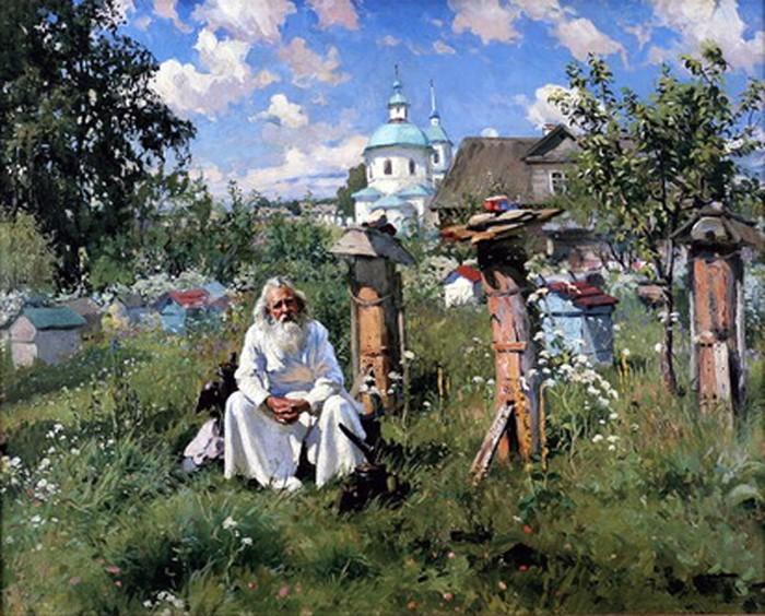 Маковский А.В. На пасеке. 1916