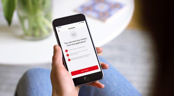 Покупка билетов онлайн с помощью приложения TMB