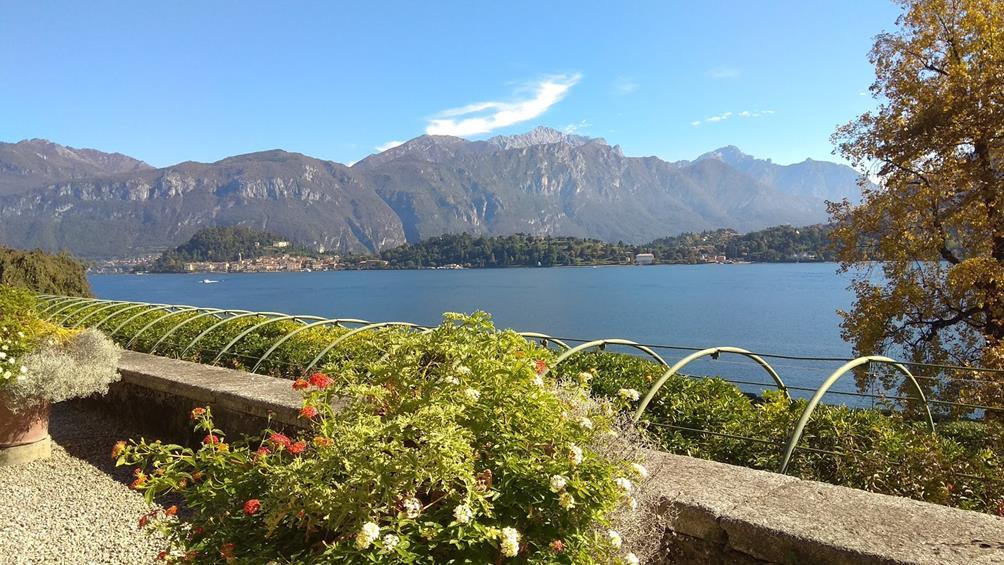 Итальянский сад с изгородью и перголой, озеро Комо