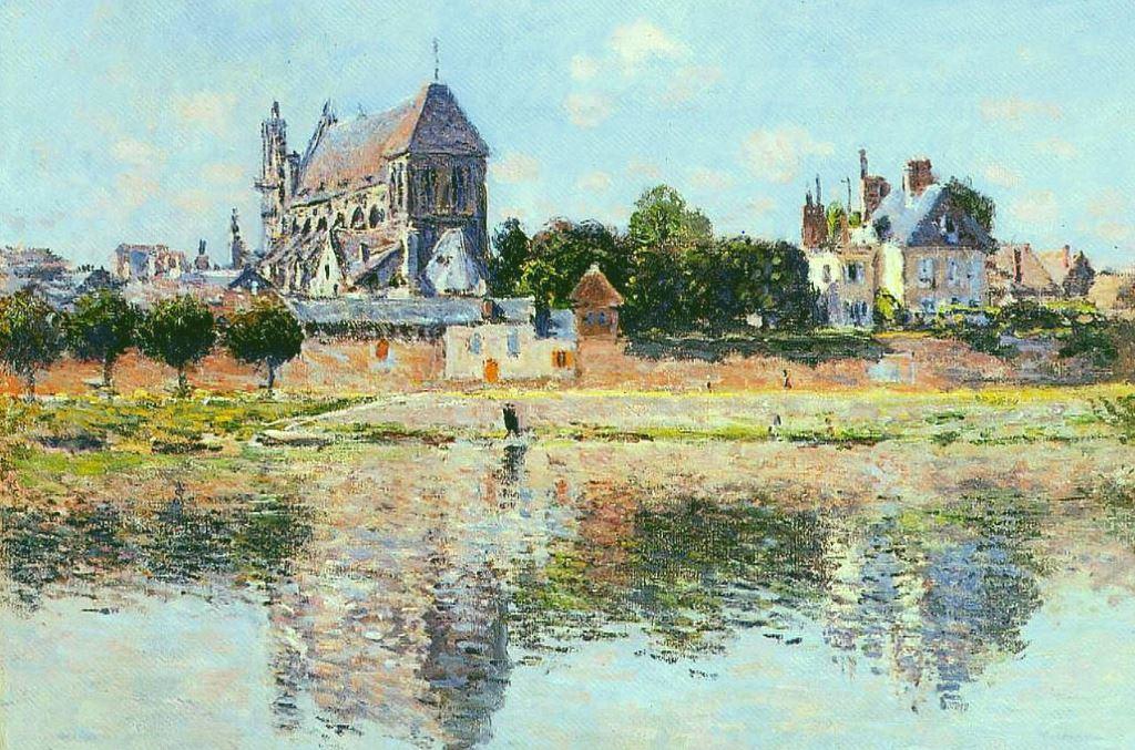 Вид на церковь в Верноне, Клод Моне, 1883г.
