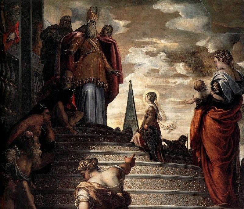 Якопо Тинторетто «Введение Марии во храм», 1555 г.