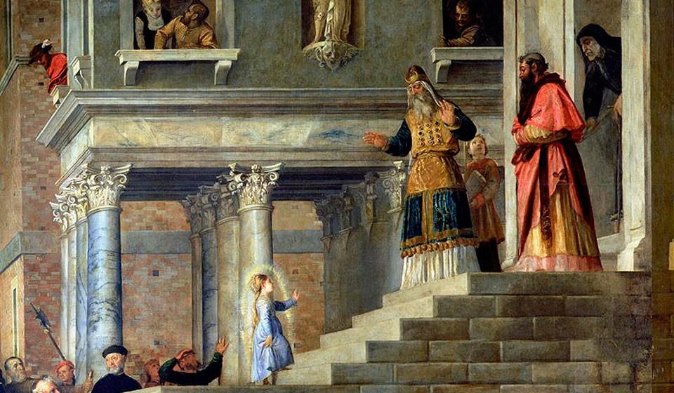 Введение в Храм Пресвятой Девы Марии, Тициан, 1534-1538