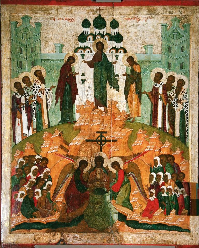 Изнесение честных древ Животворящего Креста Господня 14 августа. Икона