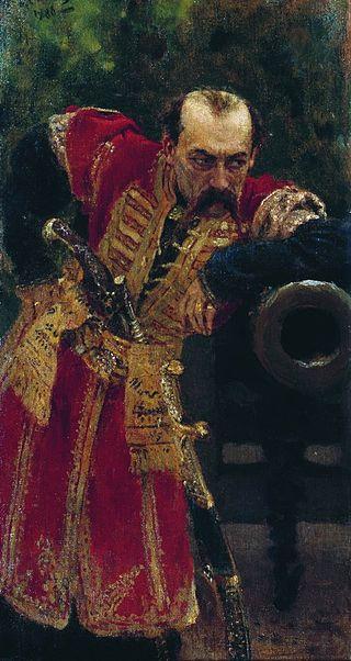 «Гетман» (1910), Илья Репин