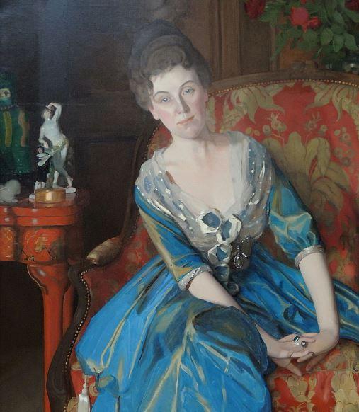 Портрет Елены Олив работы К. Сомова (1914)